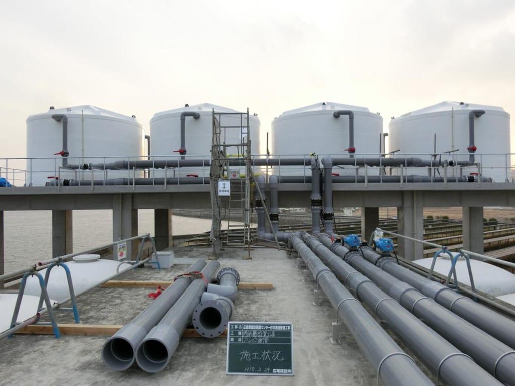新設水槽設置